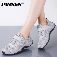 PINSEN 2020 Autumn Fashion Women Shoes High Quality Casual Sneakers Shoes Woman Flats Lace-up Creepers Comfortable Mother Shoes