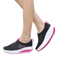 Fashion Shoes Women Mesh Flat Shoes Sneakers Platform Shoes Women Loafers Breathable Air Mesh Swing Wedges Shoe Breathable Flats