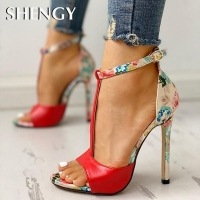 Womens Fashion Summer Sexy Exquisite 10cm High Heels Ladies Increased Stiletto Super High Heel Sandals