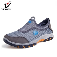 VESONAL 2020 Summer Slip-On Mesh Sneakers Men Shoes Out door Breathable Comfortable Male Shoes Loafers Casual Walking Footwear