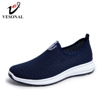 VESONAL 2019 Summer Breathable Mesh Sneakers Men Shoes Comfortable Slip On Male Shoes Loafers Casual Walking Footwear AA02