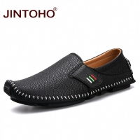 JINTOHO Big Size Men Loafers Genuine Leather Shoes Fashion Men Boat Shoes Brand Men Casual Leather Shoes Male Leather Shoes