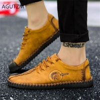 ZPXHSM  New fashion Comfortable Casual Shoes Loafers Men Flats Wild soft bottom men shoes Spring Lace-up Non-slip sneakers Y213