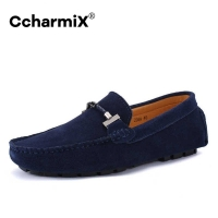 CcharmiX Brand Summer Spring Genuine Leather Mens Flats Men Casual Moccasins Men Luxury Fashion Slip On Driving shoes Big Size