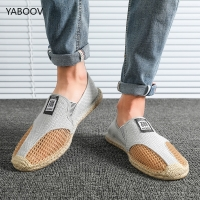 Men Driving Shoes Casual Weave Mens Straw Shoes Loafers Slip on Travel Shoes Men Luxury Brand Espadrilles Big Size 39-45