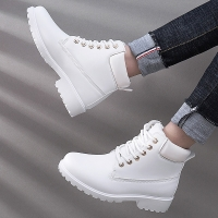 Winter boots women shoes 2019 warm plush square heels women snow boots women lace-up ankle boots winter shoes woman botas mujer