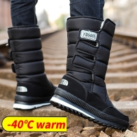 snow boots men waterproof mens winter boots With Fur winter shoes slip-resistant Men Boots platform thick plush warm Plus size