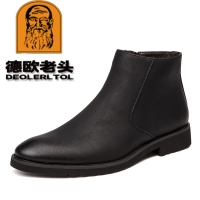 2019 New Man Microfiber Leather Boots Autumn Chelsea Boots Soft Leather Shoes 38-44 Man Ankle Boots