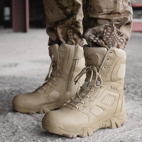 High Quality Brand Military Leather Boots Special Force Tactical Desert Combat Men's Boots Outdoor Shoes Ankle Boots