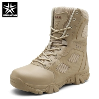URBANFIND High Quality Brand Military Leather Boots Special Force Tactical Desert Combat Men's Boots Outdoor Shoes Ankle Boots