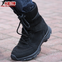 New summer breathable mesh 08 combat boots male army fan super light army  tactical Marine military shoes train boot