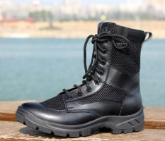 Summer military boots men botas hombre combat boots leather light outdoor high-top mesh breathable combat tactical boots