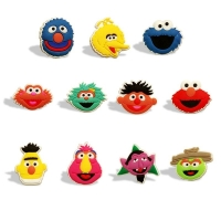 1pc Sesame Street PVC Shoe Charms Cute Cartoon Shoes Accessories Buckles Decoration for Croc JIBZ ELmo Ornaments For Kids