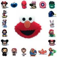 1pcs Cartoon Sesame Street Avenger Mickey Mario PVC Shoe Charms Shoes Accessories  Buckles Fit Bracelets Croc JIBZ Kids Gift