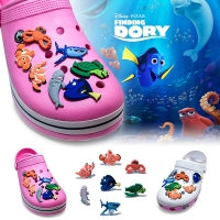 New Cute 1pcs See Animals PVC Shoe Charms Shoe Buckles Accessories Fit Bands Bracelets Croc JIBZ Kids Party Gifts Party Favor