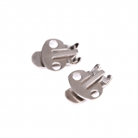 10PCS/Set Silver Color Blank Stainless Steel Flower Shoes Clips On Findings DIY Craft Buckles For Shoes Accessories