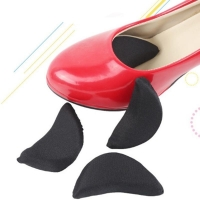 1Pair Sponge Forefoot Insert Toe Plug Half Forefoot Cushion Anti-pain Big Shoes Toe Front Long Top Filler Shoes Adjustment