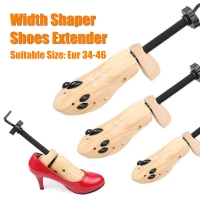 Wooden PU Shoes Width Extender Adjustable High-heel Shoes Trees Shaper Stretcher Tools S/M/L Unisex Boots Expander Trees Rack