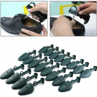 1 Pair Adjustable Men Women Plastic Boots Shoe Stretcher Durable Solid Black Shoe Tree Expander Extender Shoes Support Keeper