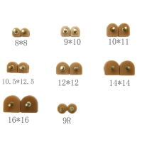 GUGULUZA High Qualiy 5 Pairs Brown High Heel Shoes DIY Repairs Tips Pin Dowels Lifts Replacement 3 mm