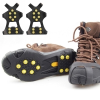 10 Stud S M L Universal Non Slip Snow Shoe Spikes Ice Grips Cleats Crampons Winter Climbing Anti Slip Shoes Cover