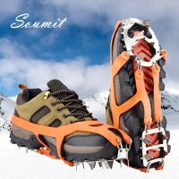 Soumit 18 Teeth Steel Ice Gripper Spike for Shoes Anti Slip Climbing Snow Spikes Crampons Cleats Chain Claws Grips Boots Cover