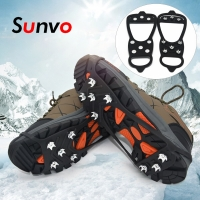 Sunvo Anti-Slip Crampons Ice Spike for Winter Outdoor Hiking Climbing Hunting Snow Spikes Cleats Chain Claws Grips Ice Gripper