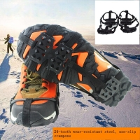 Outdoor 24-tooth manganese steel simple cramps Anti-skid shoe covers claws chain snow mud non-slip ice gripper