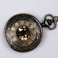 Vintage Bronze Steampunk Pocket Watch Quartz Necklace Pocket & Fob Watches Chain Men Women Clock