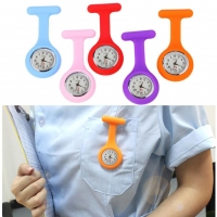 Top Sell pocket watches Silicone Nurse Watch Brooch Tunic Fob Watch With Free Battery Doctor Medical verpleegkundige horloge 03*