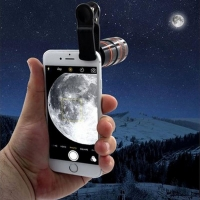 Transform Your Phone Into A Professional Quality Camera!! HD360 Zoom Hot Black