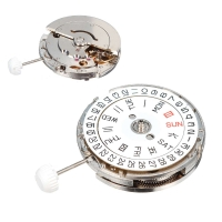 White Mechanical Automatic Watch Replacement Movement Calendar Display Watch Repair Parts For MIYOTA 8205 Watches Clock Movement