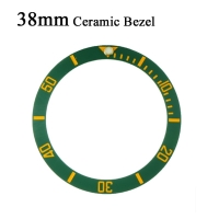 38mm Watch Face Ceramic Bezel Insert For 40mm Submariner Automatic Mens Watches Replace Accessories Black/Blue/Green