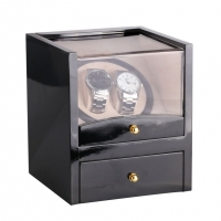 Automatic Watch Winder For Mechanical Watch Box Holder Display Winding Jewelry Storage Case High Gloss Paint Gift EU PLUG