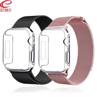 Screen Protective Case for apple watch band iwatch band 42mm 44mm 38mm 40mm milanese loop bracelet watchband Apple Watch 4 3 5 2