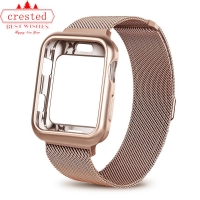 Case+strap for Apple Watch 5 band 44mm 40mm iWatch band 42mm 38mm Milanese Loop bracelet Metal Watchband for Apple watch 3 4 2 1