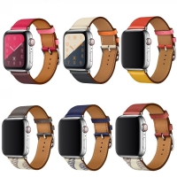 High quality Leather loop for iWatch 40mm 44mm Sports Strap Single Tour band for Apple watch 42mm 38mm Series 1 2 3 4 5