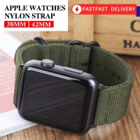 Hot Sell Nylon Watchband for Apple Watch Band Series 5/4/3/2/1 Sport Leather Bracelet 42mm 44mm 38mm 40mm Strap For iwatch Band