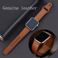 strap for apple watch band Genuine leather loop 42mm 38mm watchband for iwatch 44mm 40mm series 5 4 3 2 1 bracelet belt