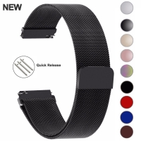20mm 22mm 18mm Samsung Galaxy Watch Band 42 46mm Straps Loop Milanese Strap Stainless Steel Active2 40 44 Gear S3 14 16 18 24mm