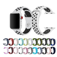 sport Silicone band for Apple watch 5 4 3 2 1 Breathable Bracelet Strap correa Apple watch 42mm 38mm for Nike+ iwatch 44mm 40mm