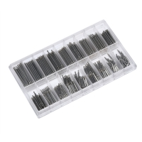 Stainless Steel Spring Bar Kit Watch Tool Set 8-25mm 144PC Watch Band Spring Bars Strap Link Pins Repair Watch Link Pins Tool