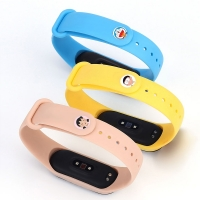 For XIAOMI Mi Band 3 4 Wrist Strap TPU Material Miband 4 Accessories for Xiaomi Miband 3 Smart Wristband Cartoon Metal buckle
