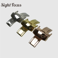 18mm Stainless Steel Leather Watchband  Butterfly Buckle for Tissot T41 T60 T91 T099 T014 63 1853 Strap Clasp Watch Buckle Parts