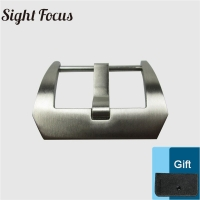 Screw-in 22mm Buckle Width Stainless Steel Brushed PVD Watch Buckle Watchband Pre-v Tang Buckl for PAM Watch Parts Accessories