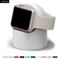 URVOI holder for apple watch series 54321 stand watchOS Nightstand keeper silicone home charging dock for iWatch modern design
