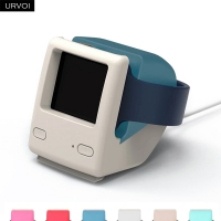 URVOI Holder for apple watch series 5/4/3/2/1 WatchOS 5 Nightstand keeper silicone home charging dock for iWatch for iMac design