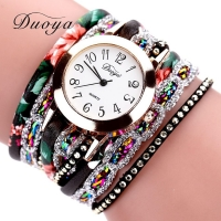 Fashion 2020 Watches Women Popular Quartz Watch Luxury Bracelet Flower Gemstone Wristwatch Casual Bracelet Watch Valentine Gift