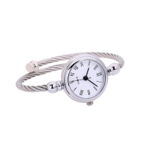 Luxury Women Watches Glass Mirror Bracelet Watch Roman Numerals Circular Analog Quartz Wristwatches Ladies relogio feminino P40