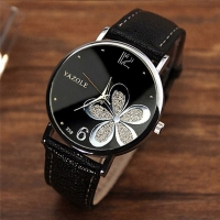 YAZOLE Women Bracelet Watch Leather Crystal Wrist Watch Women Dress Ladies Quartz Watches relogio feminino Dropshiping #D